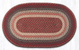 C-012 Burgundy Braided Rug