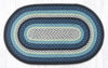 C-312 Blueberry/Cream Braided Rug