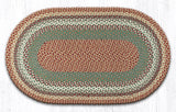 C-413 Buttermilk/Cranberry Braided Rug