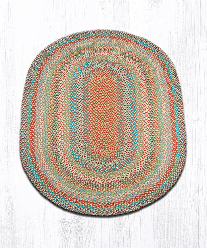 C-328 Multi 1 Oval Braided Rug 4'x6'