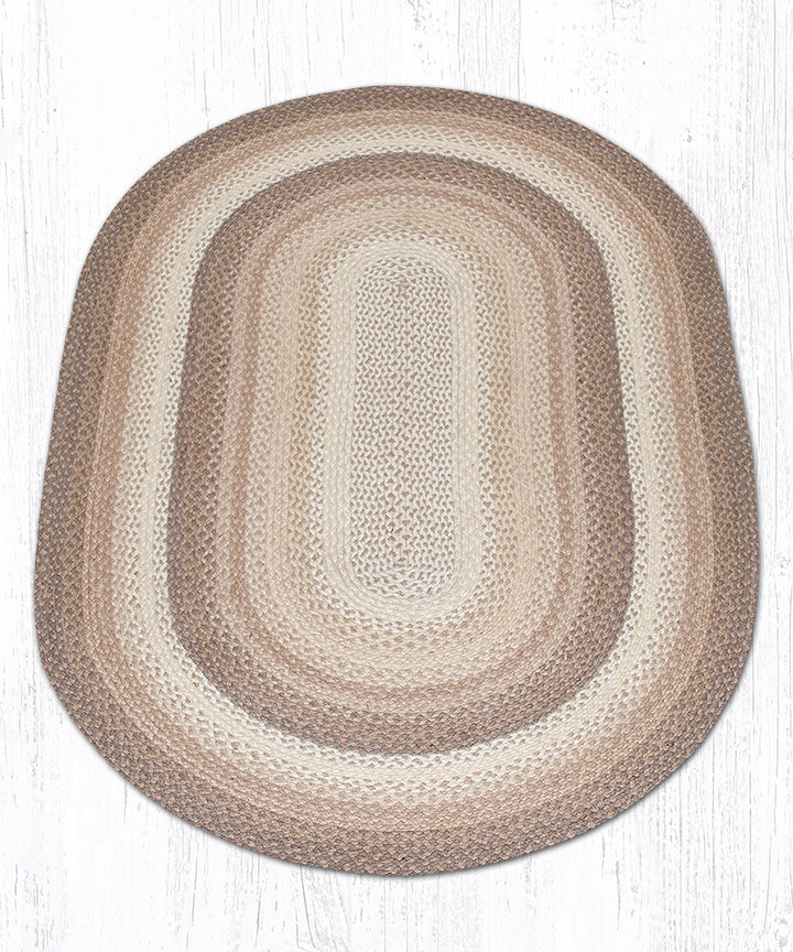 C-776 Natural Oval Braided Rug 4'x6'