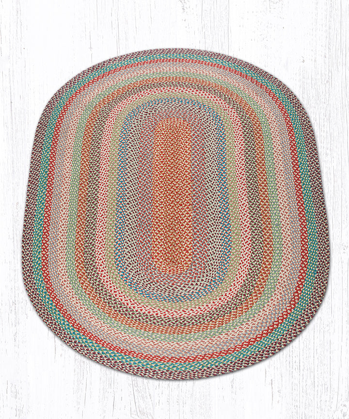 C-328 Multi 1 Oval Braided Rug 5'x8'