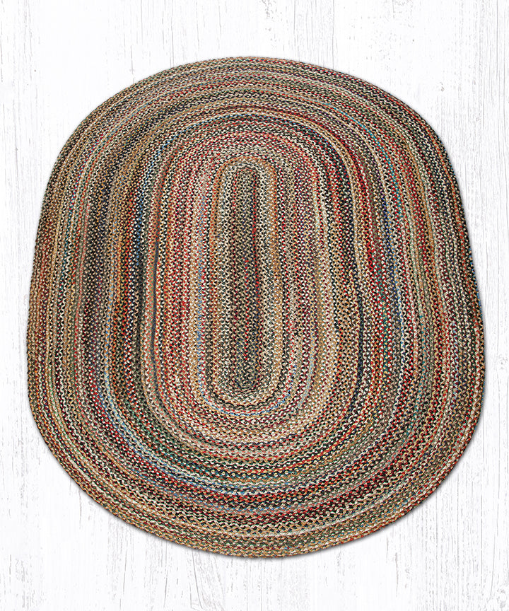 C-999 Random Oval Braided Rug 5'x8'