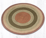 C-024 Olive/Burgundy/Gray Braided Rug