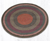 C-043 Burgundy/Blue/Gray Braided Rug