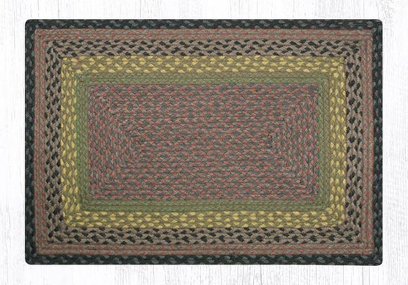 C-099 Brown/Black/Charcoal Braided Rug
