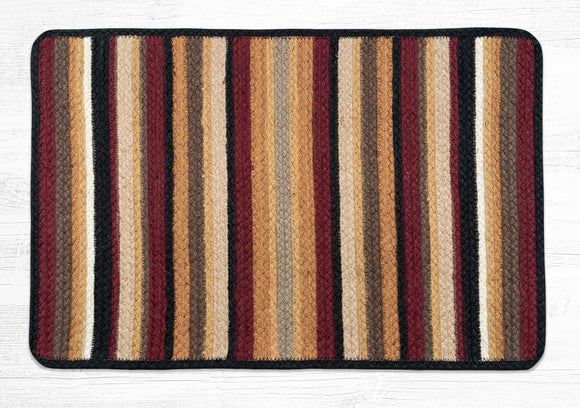 VR-371 Burgundy/Black/Golden Rod Braided Rug