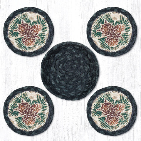 CNB-025A Pinecone Coaster Set