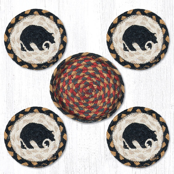CNB-043 Black Bear Coaster Set
