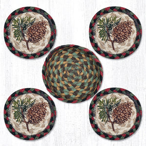 CNB-081 Pinecone Coaster Set