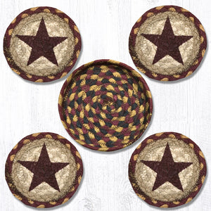 CNB-357 Burgundy Star Coaster Set