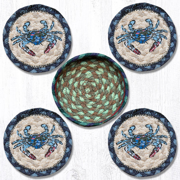 CNB-359 Blue Crab Coaster Set