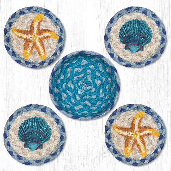 CNB-378 Star Fish Scallop Coaster Set