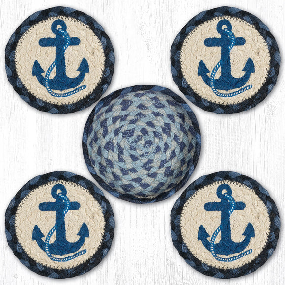CNB-443 Navy Anchor Coaster Set
