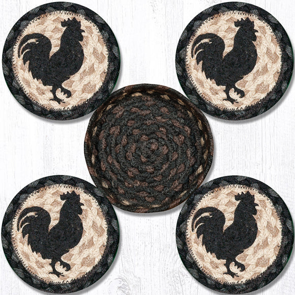 CNB-459 Rooster Silh Coaster Set