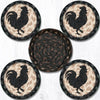 CNB-459 Rooster Silhouette Coaster Set