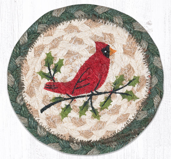 IC-025 Holly Cardinal Coaster