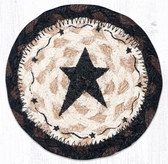 IC-313 Primitive Star Black Coaster