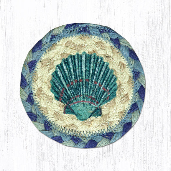 IC-378 Blue Scallop Coaster