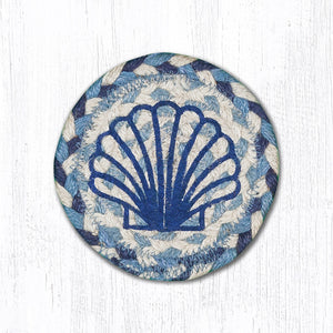 IC-525 Blue Scallop Coaster