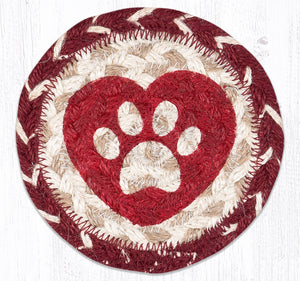IC-9-117 Heart Paw Coaster