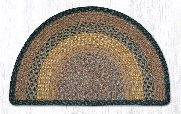 SC-99 Brown/Black/Charcoal Small Rug Slice 18