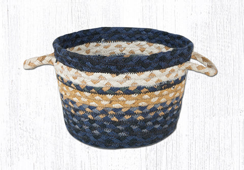 UB-079 Light & Dark Blue/Mustard Utility Baskets