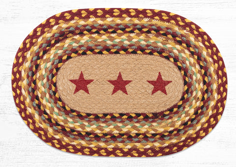 PM-OP-357 Burgundy Stars Placemat