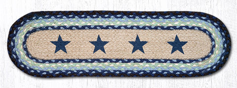 ST-OP-312 Blue Stars Printed Stair Tread