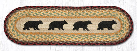 ST-OP-395 Cabin Bear Printed Stair Tread