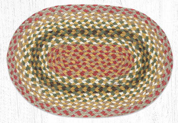 C-024 Olive/Burgundy/Gray Jute Placemat