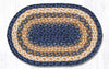 C-079 Light & Dark Blue/Mustard Jute Placemat