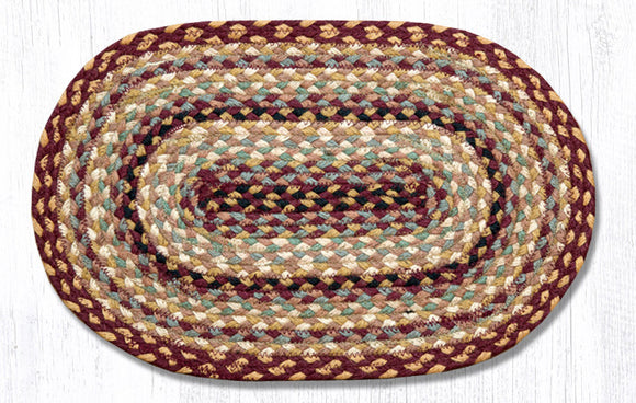 C-357 Burg/Gray/Cream Jute Placemat