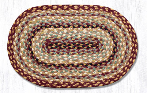 C-357 Burgundy/Gray/Cream Jute Placemat