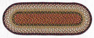 C-019 Burgundy/Mustard Jute Table Runner