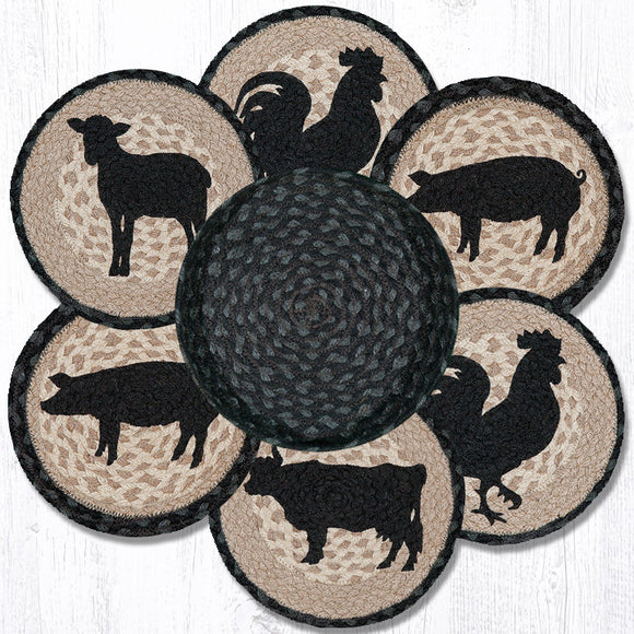 TNB-459 Barnyard Animal Trivet/Basket