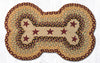 DBP-357 Burgundy Stars Dog Bone Rug