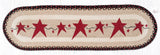 OP-019 Primitive Stars Burgundy Oval Patch Runner
