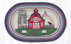 OP-015 Barn Scene Oval Patch Rug