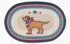 OP-015 Yellow Lab Oval Patch Rug