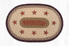 OP-019 Barn Stars Oval Patch Rug