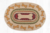 OP-024 Dog Bones Oval Patch Rug
