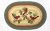 OP-025 Cardinals Oval Patch Rug