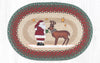 OP-025 Santa Reindeer Oval Patch Rug