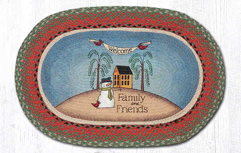 OP-025 Welcome Family Oval Patch Rug