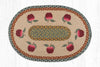 OP-042 Apples Oval Patch Rug