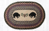 OP-043 Black Bears Oval Patch Rug