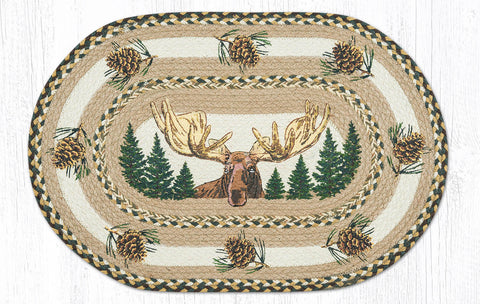 OP-051 Bull Moose Oval Patch Rug