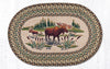 OP-051 Moose Wading Oval Patch Rug
