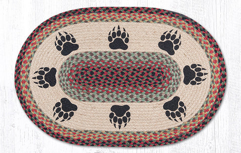 OP 081 Bear Paw Oval Patch Rug